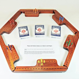 Pegs & Jokers Game Set - Padauk