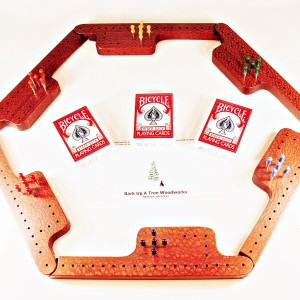 Pegs & Jokers Game Set - Leopardwood
